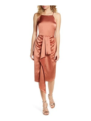 Harlyn ruched satin midi dress