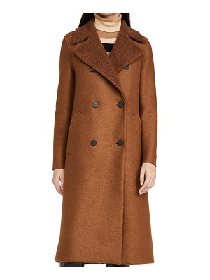 Harris Wharf London boucle lapel military coat