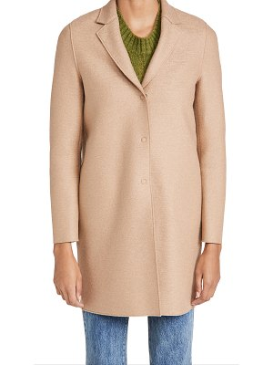 Harris Wharf London cocoon pressed wool coat