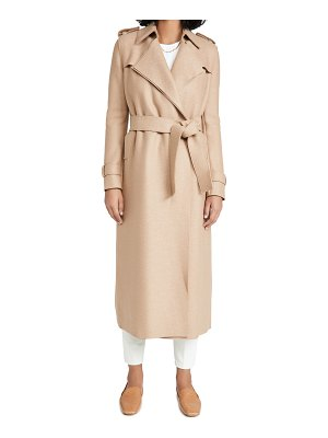 Harris Wharf London long pressed wool trench coat