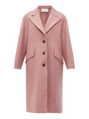 Harris Wharf London peak lapel single breasted wool coat