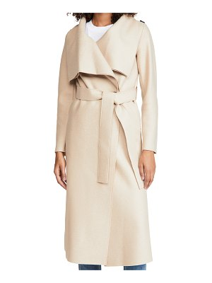 Harris Wharf London pressed wool volcano coat