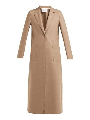 Harris Wharf London single breasted pressed wool coat