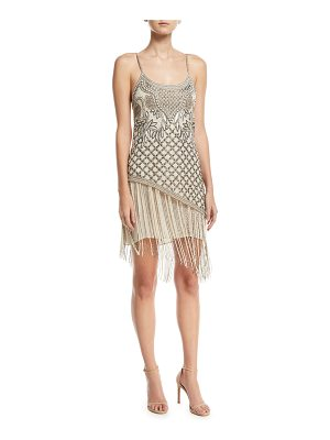Haute Hippie Devere Sleeveless Fringe Mini Cocktail Dress