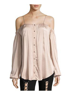 HAUTE HIPPIE Vivien Button Down Satin Top