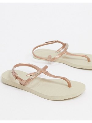 Havaianas twist flat sandals in gold