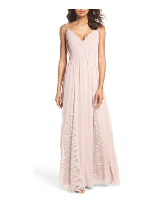 Hayley Paige Occasions lace & chiffon gown