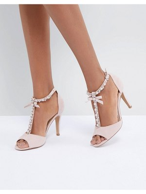 Head Over Heels Head Over Heels By Dune Mercedes Pearl Trim Heeled Sandals