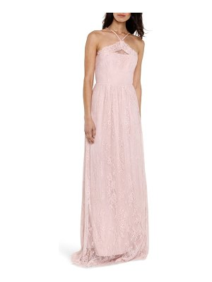 Heartloom eloise halter neck lace gown
