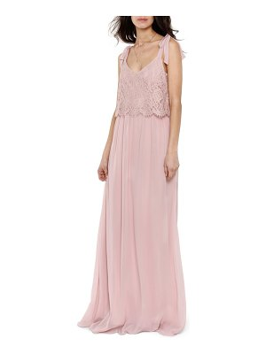 Heartloom koko tie shoulder lace bodice gown