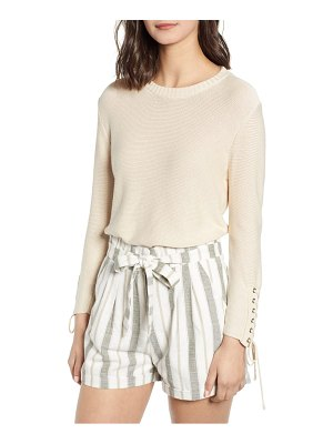 Heartloom lace-up sleeve detail sweater