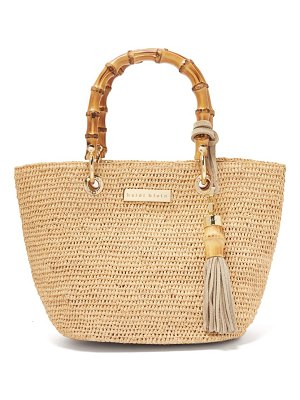 Heidi Klein savannah bay bamboo handle raffia tote