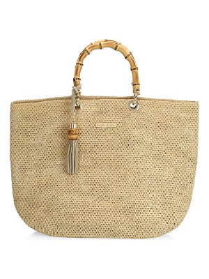 Heidi Klein savannah bay medium bamboo raffia bag