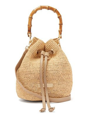 Heidi Klein savannah bay mini bamboo handle raffia bag