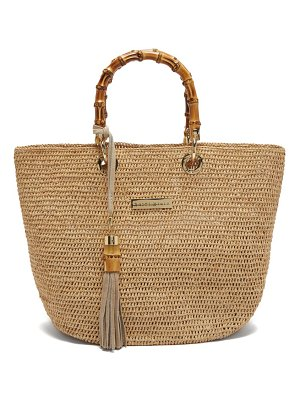 Heidi Klein savannah bay mini bamboo handle raffia tote