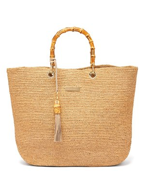 Heidi Klein savannah medium bamboo handle raffia tote bag
