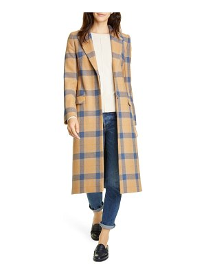 Helene Berman plaid wool blend college coat