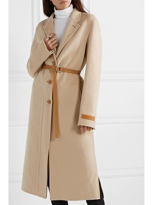 Helmut Lang belted layered wool and cashmere-blend coat