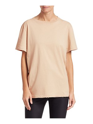 Helmut Lang cotton jersey distressed tee