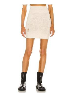 Helmut Lang distressed skirt