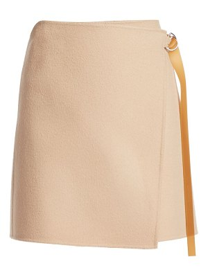 Helmut Lang double-face wool & cashmere wrap skirt