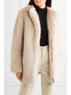 Helmut Lang faux fur coat