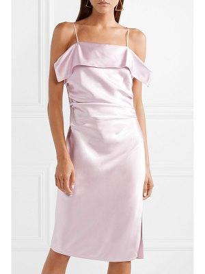 Helmut Lang ruched satin dress