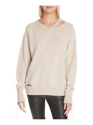 Helmut Lang slash neck sweater