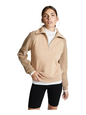 Helmut Lang sweater combo zip sweatshirt