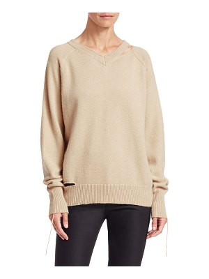 Helmut Lang v-neck slash sweater