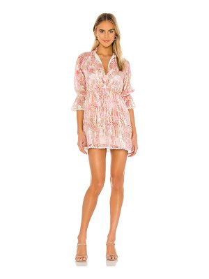 HEMANT AND NANDITA x revolve bloom short sleeve dress