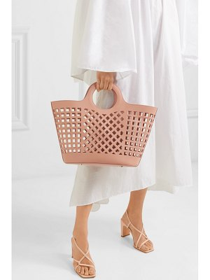 Hereu colmado cutout leather tote
