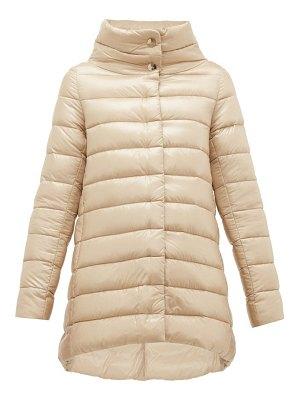 HERNO amelia high neck quilted jacket
