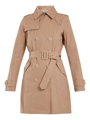 HERNO Double-breasted cotton-blend trench coat