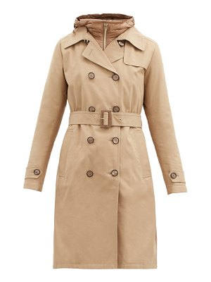 HERNO hooded belted cotton-gabardine trench coat
