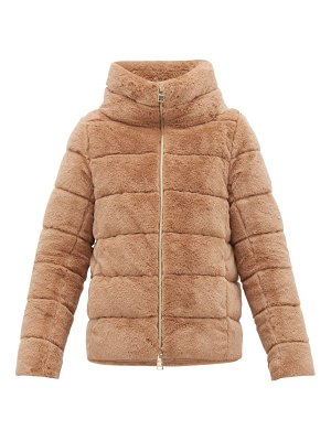 HERNO quilted down faux fur jacket