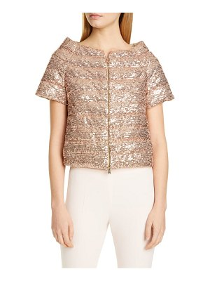 HERNO sequin short sleeve down puffer jacket