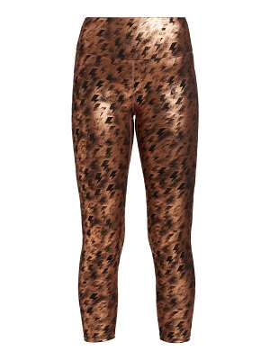 Heroine Sport lightning metallic cropped leggings