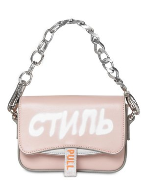 HERON PRESTON Mini canal leather shoulder bag