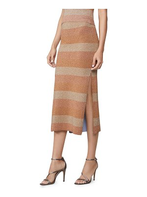 Herve Leger double faced lurex striped skirt