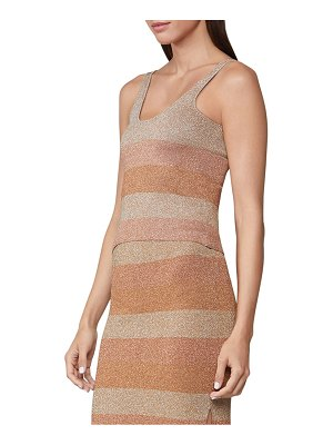 Herve Leger double faced lurex striped tank top