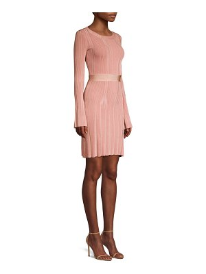 Herve Leger knit bell sleeve dress