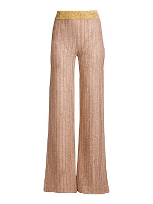 Herve Leger nubuck eyelash lurex pants