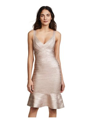 Herve Leger scoop neck midi dress