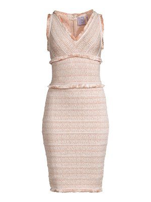 Herve Leger tweed fringe dress