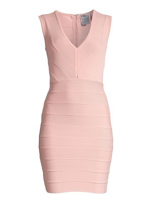 Herve Leger v-neck bandage cocktail dress