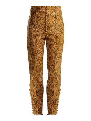 HILLIER BARTLEY Faux Python Slim Leg Trousers