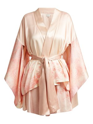 HILLIER BARTLEY floral print silk kimono style jacket
