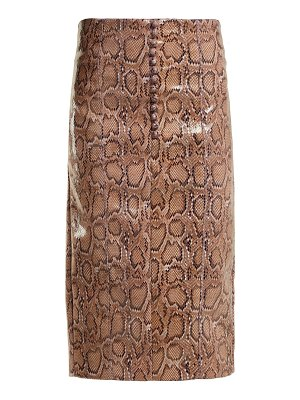 HILLIER BARTLEY python effect faux leather pencil skirt