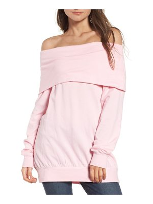 HINGE Off The Shoulder Sweatshirt